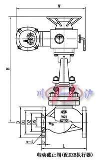 电动截止阀(配dzb执行器)图片