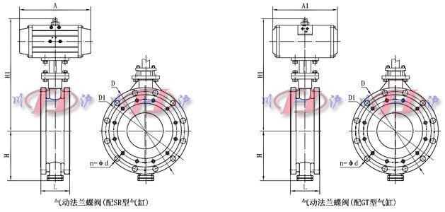 川沪牌气动法兰蝶阀由角行程气动活塞式执行器及蝶阀阀体组成,主要优点:结构简单、体积小重量轻、造价低,气动法兰碟阀该特点尤其显著,安装在高空暗道,经过二位五通电磁阀控制操作方便,也可调节流量介质。流体阻力较小,中大口径的气动法兰蝶阀全开时有效流通面积较大,启闭迅速省力,碟扳旋转90角度即可完成启闭,由于转轴两侧碟板手介质作用力接近相等,而产生的转矩方向相反,因而启闭力矩较小,低压下可实现良好的密封,气动法兰蝶阀密封材料有丁晴橡胶、氟橡胶,其中硬密封碟阀为多层次金属硬密封,具有弹性密封的优点,无论在低温情况下