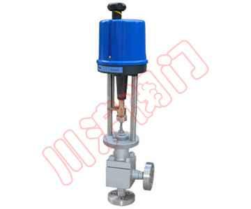 电动高压角型调节阀,广泛应用于各种化工